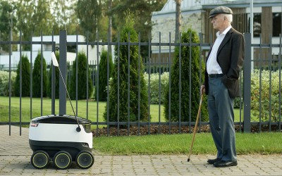 "Delivery ""Drones"" are now driving on sidewalks"